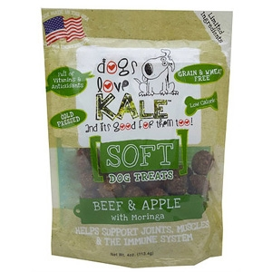 Dogs Love Kale, Beef & Apple Soft Treats with Moringa