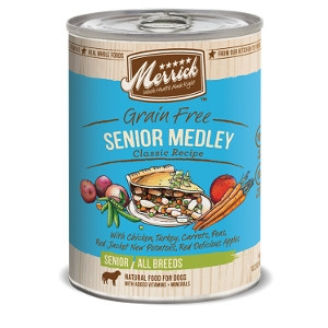 Merrick Grain Free Senior Medley Classic Recipe Canned Dog Food