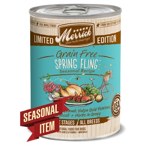 Merrick Grain Free Spring Fling in Gravy Seasonal Recipe Canned Dog Food