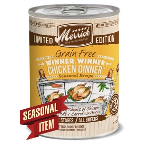 Merrick Grain Free Classic Winner Winner Chicken Dinner Seasonal Recipe Canned Dog Food