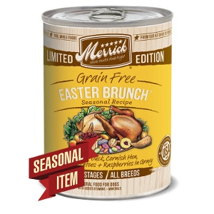 Merrick Grain Free Easter Brunch Seasonal Recipe Canned Dog Food