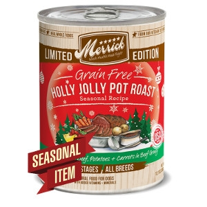 Merrick Grain Free Holly Jolly Pot Roast Seasonal Recipe Canned Dog Food