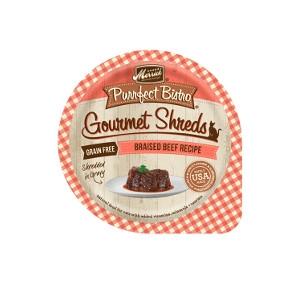 Merrick Purrfect Bistro Braised Beef Recipe Shredded In Gravy Cat Food