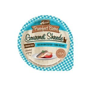 Merrick Purrfect Bistro Ocean Whitefish & Tuna Recipe Shredded In Gravy Cat Food