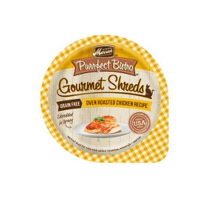 Merrick Purrfect Bistro Oven Roasted Chicken Recipe Shredded In Gravy Cat Food