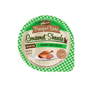 Merrick Purrfect Bistro Savory Duck Recipe Shredded In Gravy Cat Food