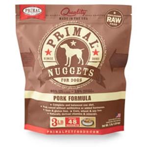 PrimalCanine Pork Formula Nuggets 3 Lb