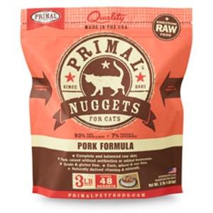 Primal Feline Pork Formula Nuggets 3 Lb