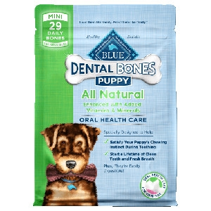 BLUE Dental Bones®Mini SizeFor Puppies