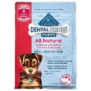 BLUE Dental Bones®Regular SizeFor Puppies