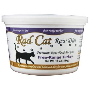 Rad Cat Free-Range Raw Turkey Cat Food 16 Oz.