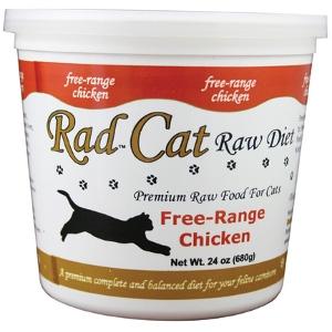 Rad Cat Free-Range Raw Chicken Cat Food 24 Oz.