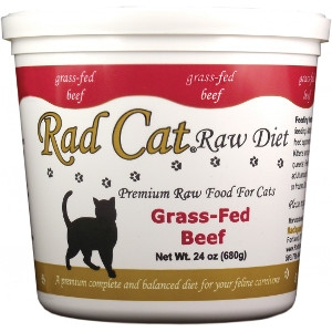 Rad Cat Grass-Fed Beef Raw Cat Food 24 Oz.