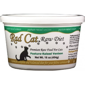 Rad Cat Pasture-Raised Venison Raw Cat Food 16 Oz.