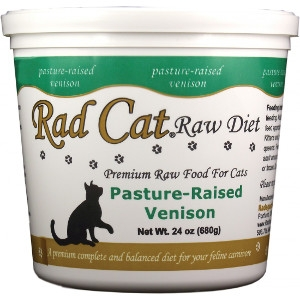 Rad Cat Pasture-Raised Venison Raw Cat Food 24 Oz.
