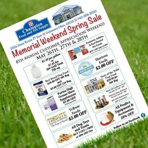 Memorial Weekend Spring Sale!