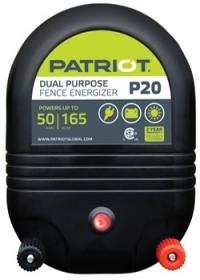 Patriot P20 Dual Purpose Electric Fence Energizer