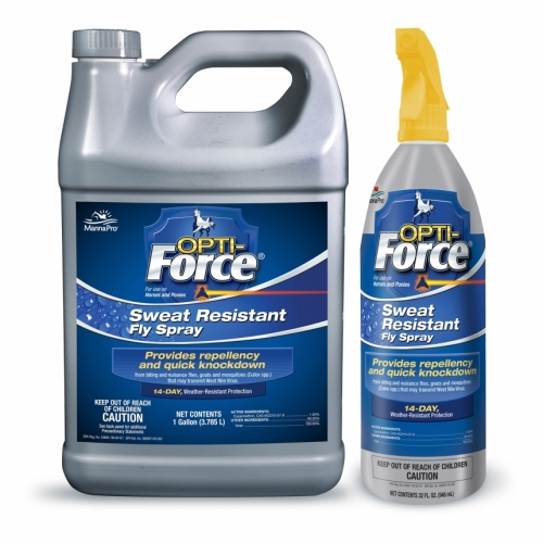 Opti-Force Sweat Resistant Fly Spray, 32 ounce Spray