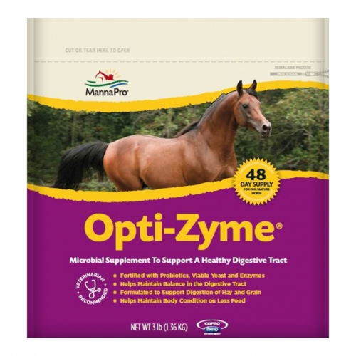 Opti-Zyme Equine Microbial Supplement to Support a Healthy Digestive Tract, 3 pound
