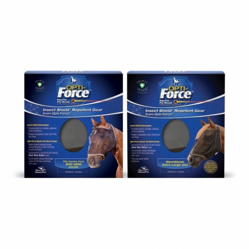 Opti-Force Equine Fly Mask with Insect Shield