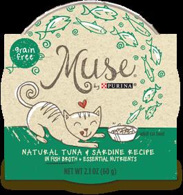 Muse Natiral Tuna & Sardine Recipe in Fish Broth, 2.1 ounce