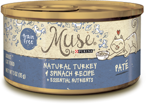 Muse Natural Turkey & Spinach Recipe Pate, 3 ounce