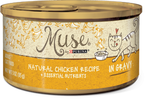 Muse Natural Chicken Recipe in Gravy, 3 ounce