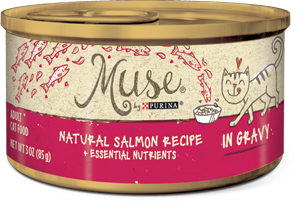 Muse Natural Salmon Recipe in Gravy, 3 ounce