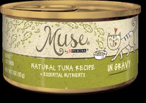 Muse Natural Tuna Recipe in Gravy, 3 ounce