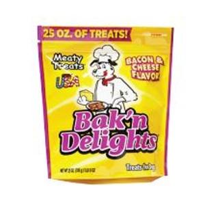 Bak'n Delights Bacon & Cheese Flavor Dog Treats, 25 oz