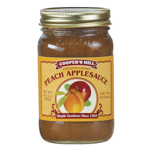 Cooper's Mill Chunky Peach Applesauce with Cinnamon