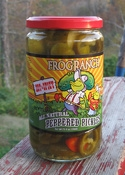 Frog Ranch All-Natural Hot & Spicy Peppered Pickles, 16 ounce jar