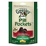 Greenies Pill Pockets Capsule Hickory Smoke Flavor, 7.9 ounce bag