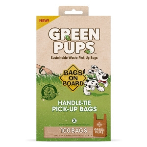 GREEN PUPS Waste Pick-Up Handle Tie Bags