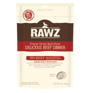 RAWZ Freeze Dried Beef Recipe Dog Food