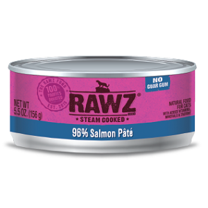 RAWZ® Steam Cooked 96% Salmon Pate Cat Food