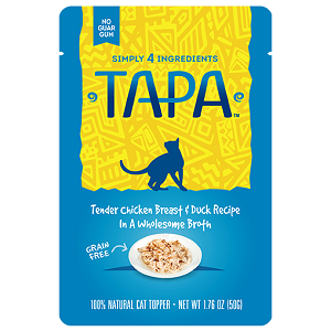 Simply 4 Ingredients Tapa Tender Chicken Breast & Duck Recipe Cat Food Topper