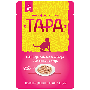 Simply 4 Ingredients Tapa Wild Caught Salmon & Beef Recipe Cat Food Topper