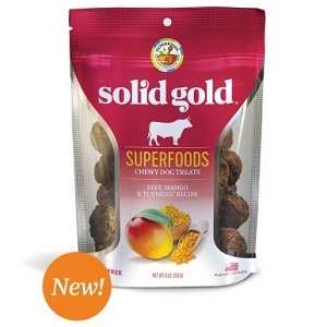 Solid Gold Superfoods Chewy Dog Treats Beef, Mango & Tumeric Recipe