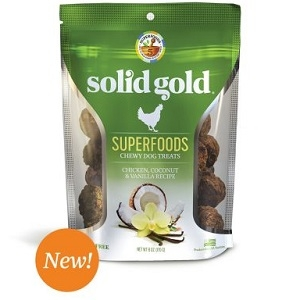 Solid Gold Superfoods Chewy Dog Treats Chicken, Coconut, & Vanilla Recipe