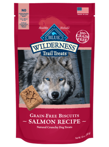 Blue Buffalo Wilderness Salmon Biscuit Dog 10OZ