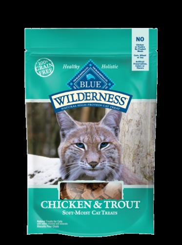 Blue Buffalo Wilderness Treats Chicken/Trout Cat 2OZ