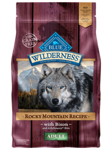 Blue Buffalo Wilderness Rocky Mountain Recipe Adult Bison Dog 4#