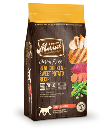 $8 off bags Merrick Grain-Free Dog Food
