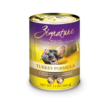 Zignature Turkey Recipe Canned Dog Food