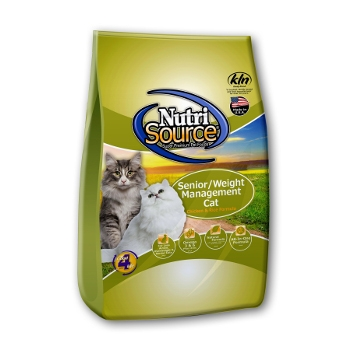 NutriSource® Chicken & Rice Senior/Weight Management Dry Cat Food