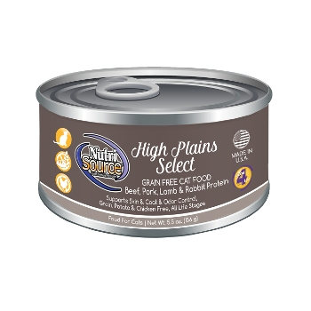 NutriSource® High Plains Select Grain Free Canned Cat Food