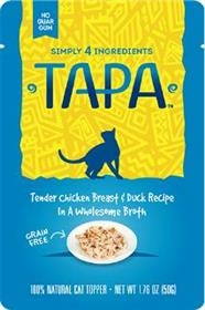 Tapa Pet Food Tender Chicken Breast and Duck Recipe