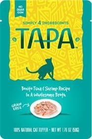 Tapa Pet Food Bonito Tuna and Shrimp Recipe