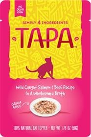 Tapa Pet Food Wild Caught Salmon and Beef Recipe